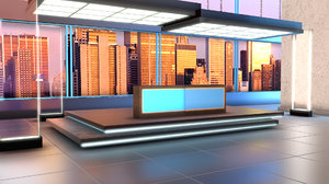 3D virtual set politics tv