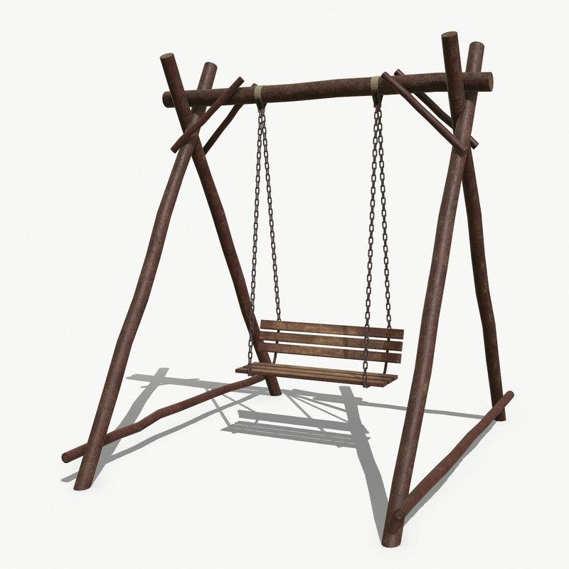 3D handmade swing pbr