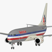 3D model boeing 737-800 american airlines