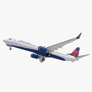 boeing 737-900 delta air lines 3D model