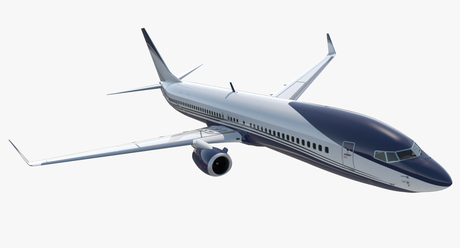 boeing 737-900 generic rigged 3D model