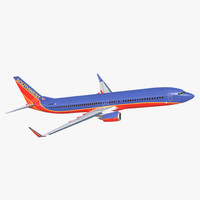 3D boeing 737-900 southwest airlines model