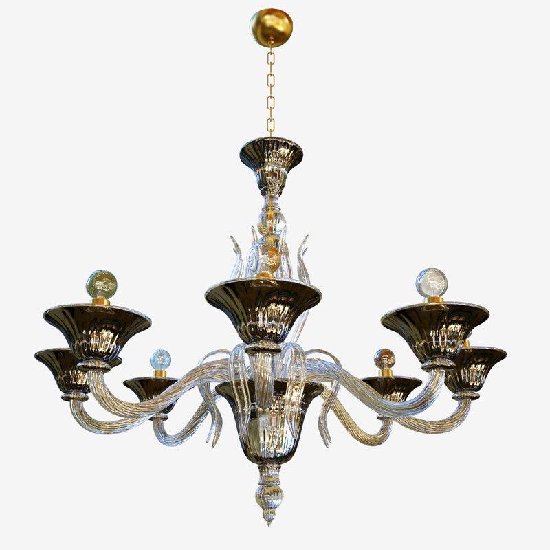 3D chandeliers lights sylcom pisani
