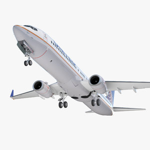 3D model boeing 737-900 united airlines