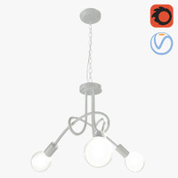 creative tied chandelier 3 3D model