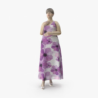 3D model size mannequin 01 pose