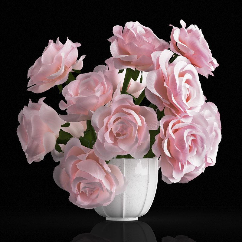 3D rose centerpiece