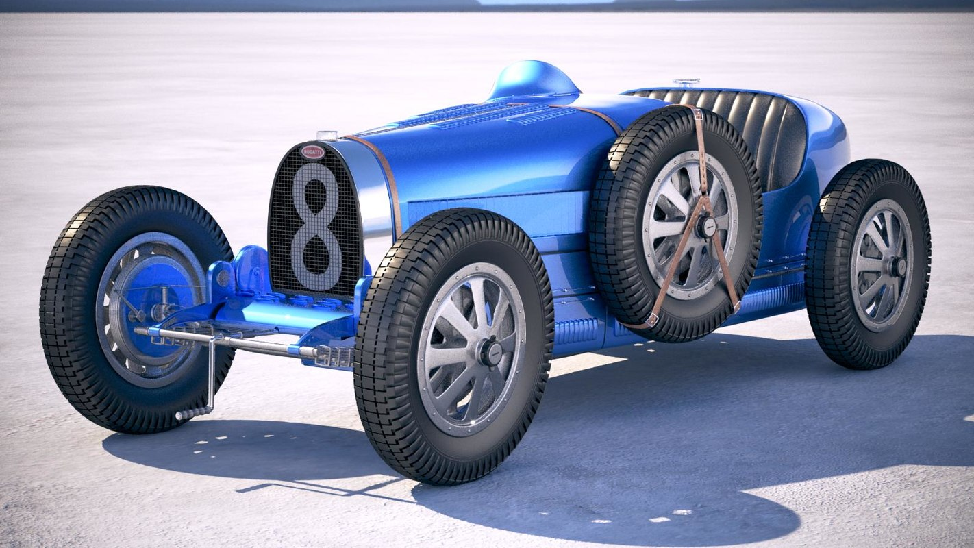 1929 bugatti b 3D model
