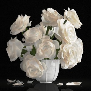 3D rose centerpiece