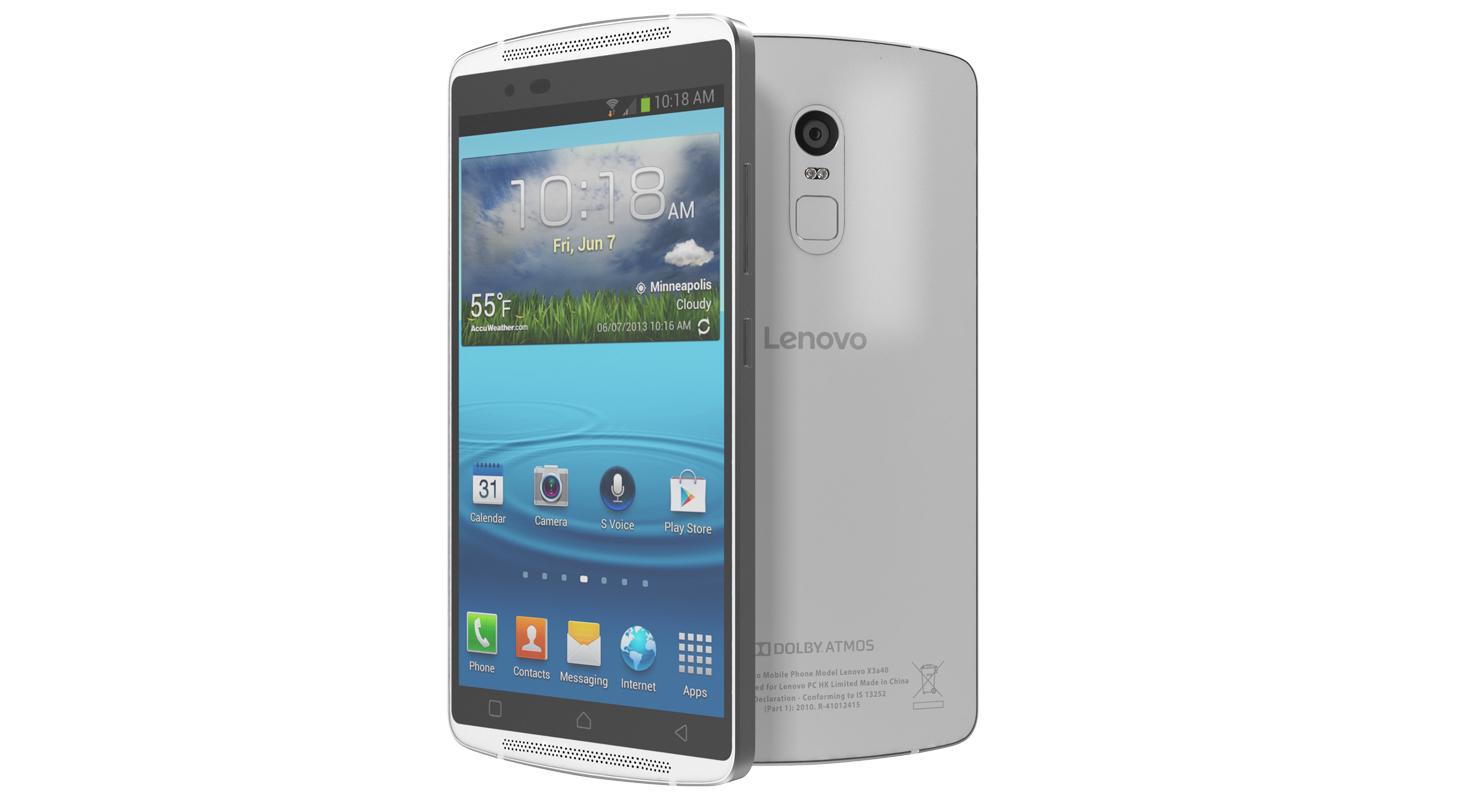 Lenovo Vibe X3 White 3D Model