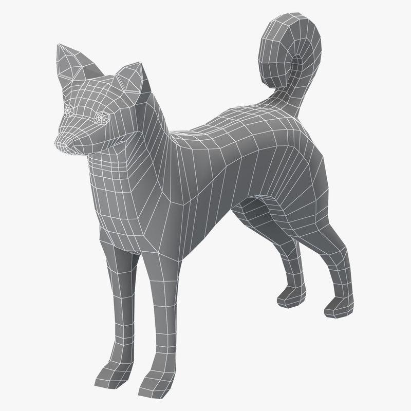base mesh canaan dog model