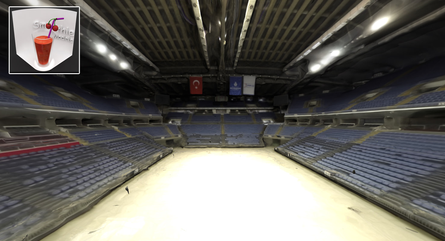3D interior sinan erdem basketball arena