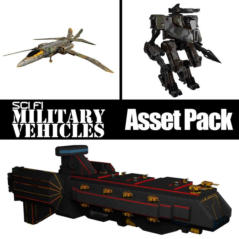 3D asset pack sci fi