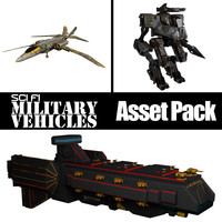 Sci Fi Military Vehicles [Asset Pack]