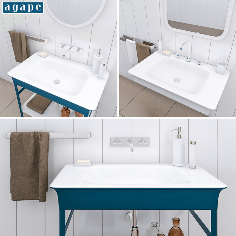 3D model washbasin agape novecento xl