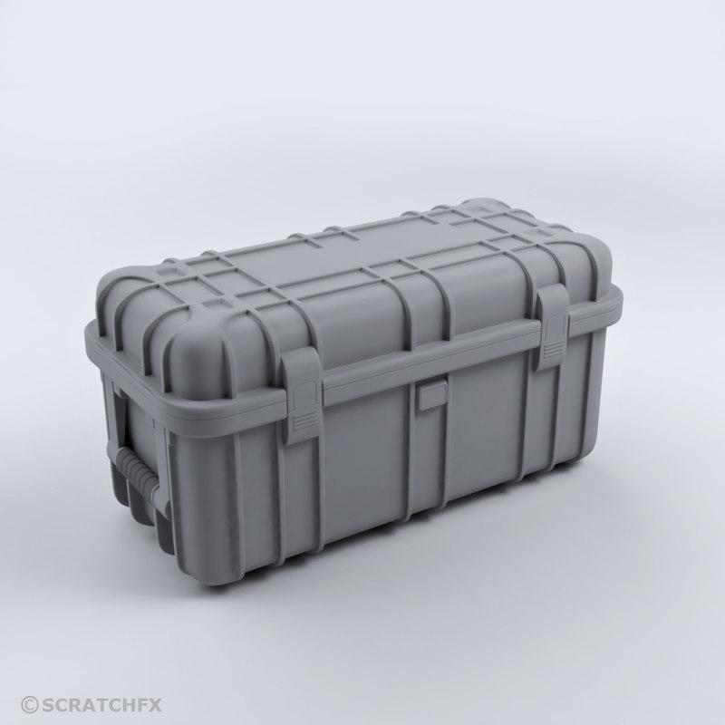 military case 02 armor 3D model