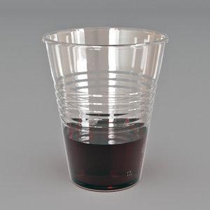 3D plastic cup tea