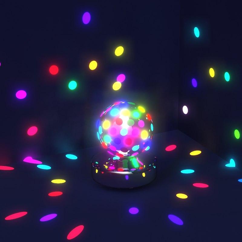 rotating disco lights 3D model