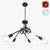 3D creative tied chandelier 5