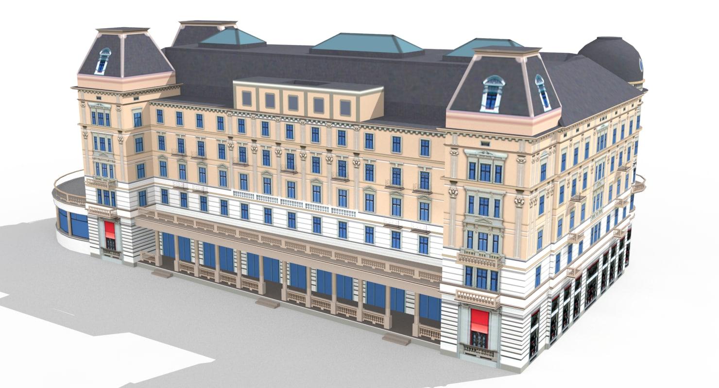 zurich corner building bellevueplatz-5 3D