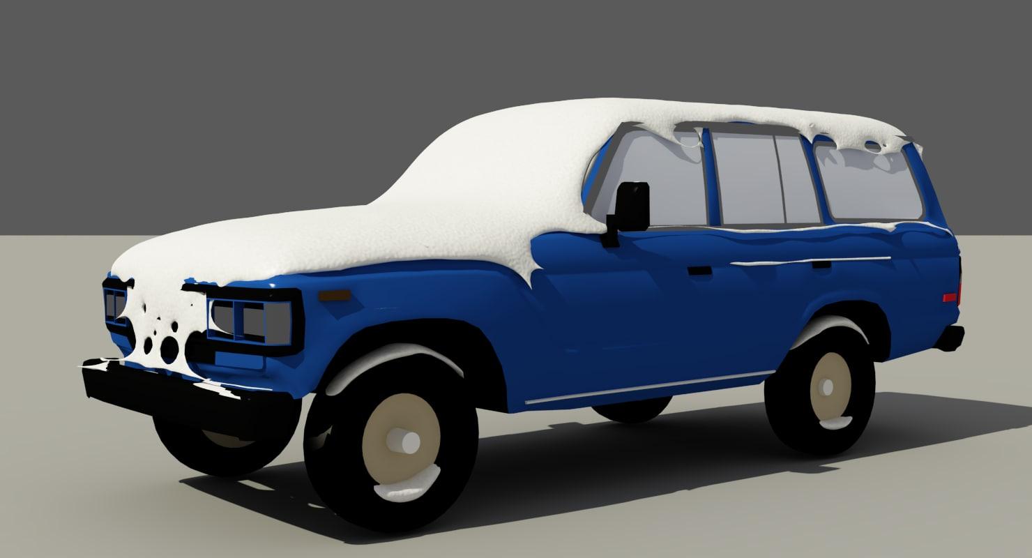 snow flow car 3D model