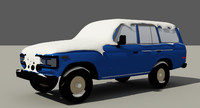 snow flow car 3D model