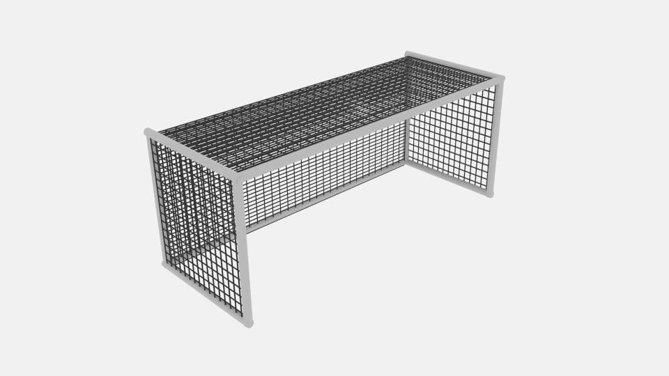 3D soccer goal net cylinder