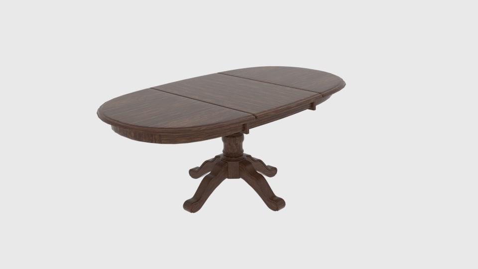 3D model ronan extension dining table