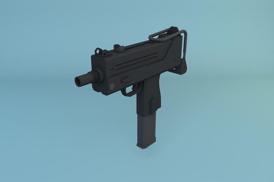3D ingram mac-10