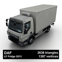 2013 daf lf fridge 3D