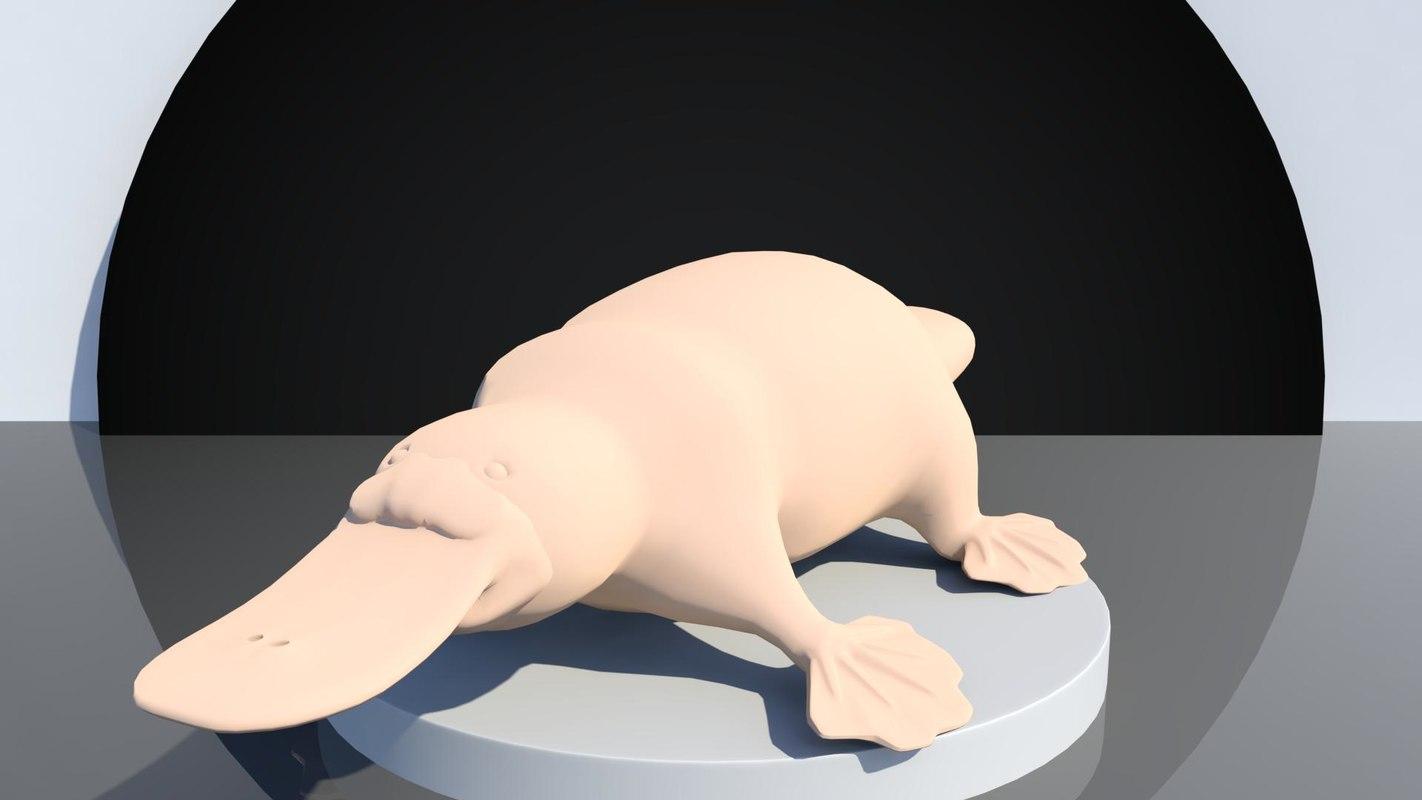3D platypus base mesh