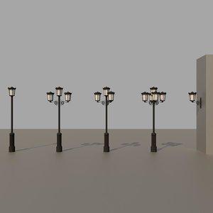 3D classical street lights model