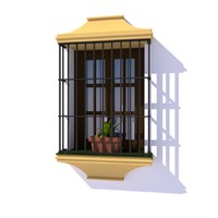 3D typical spanish window