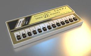 electron echo mini piano 3D model