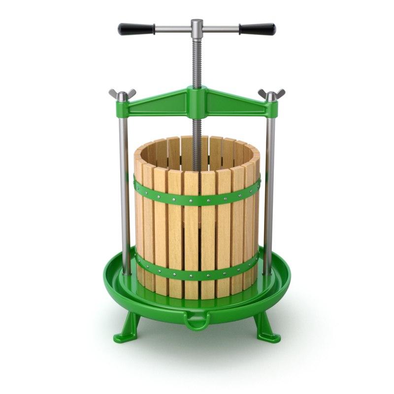 fruit green press 3D model