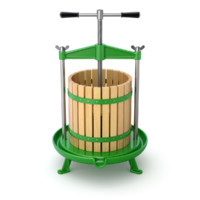 Traditional green fruit and wine press