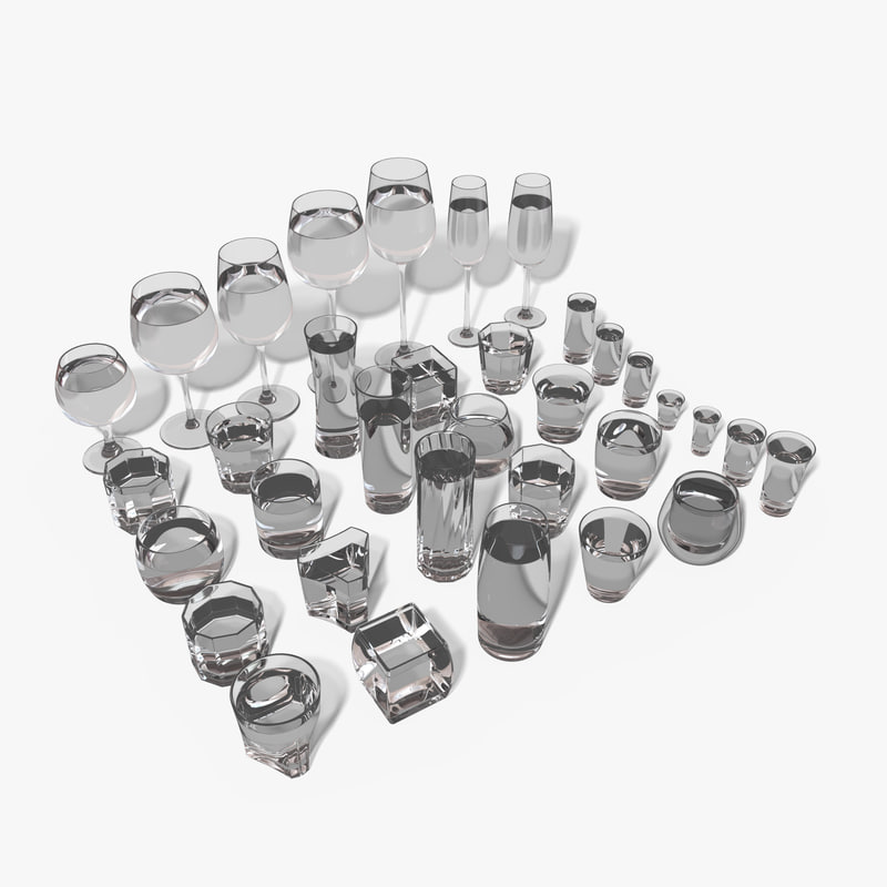 3D model set 34 glasses