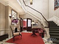 hotel hall 3D