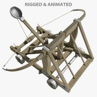 3D catapult model