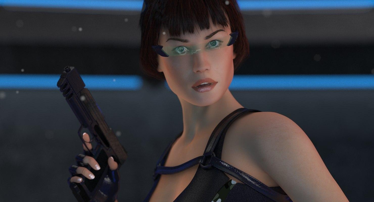 sci-fi lara body woman 3D