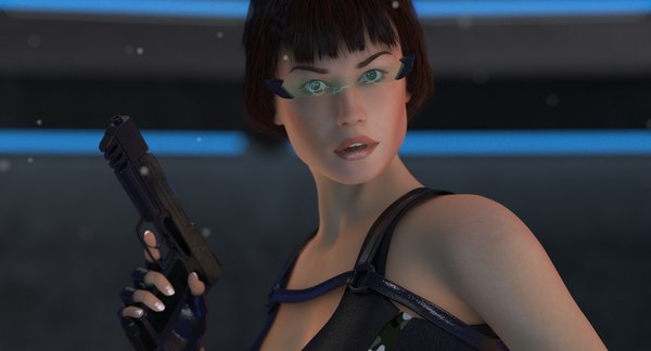 sci-fi lara body woman 3D