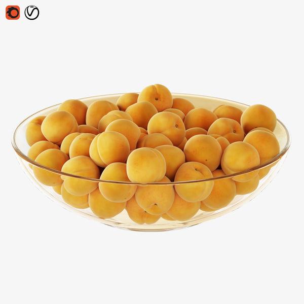 3D apricots vase