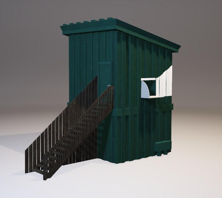 3D skeet house games model