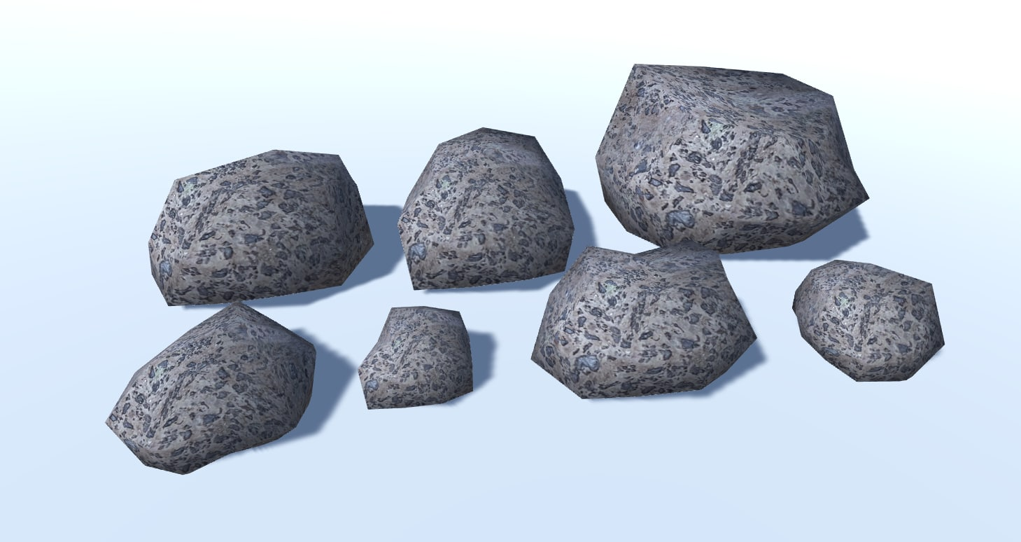 3D small ground rocks