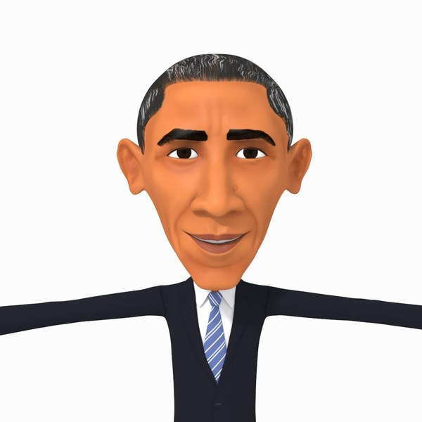 obama cartoon caricature model