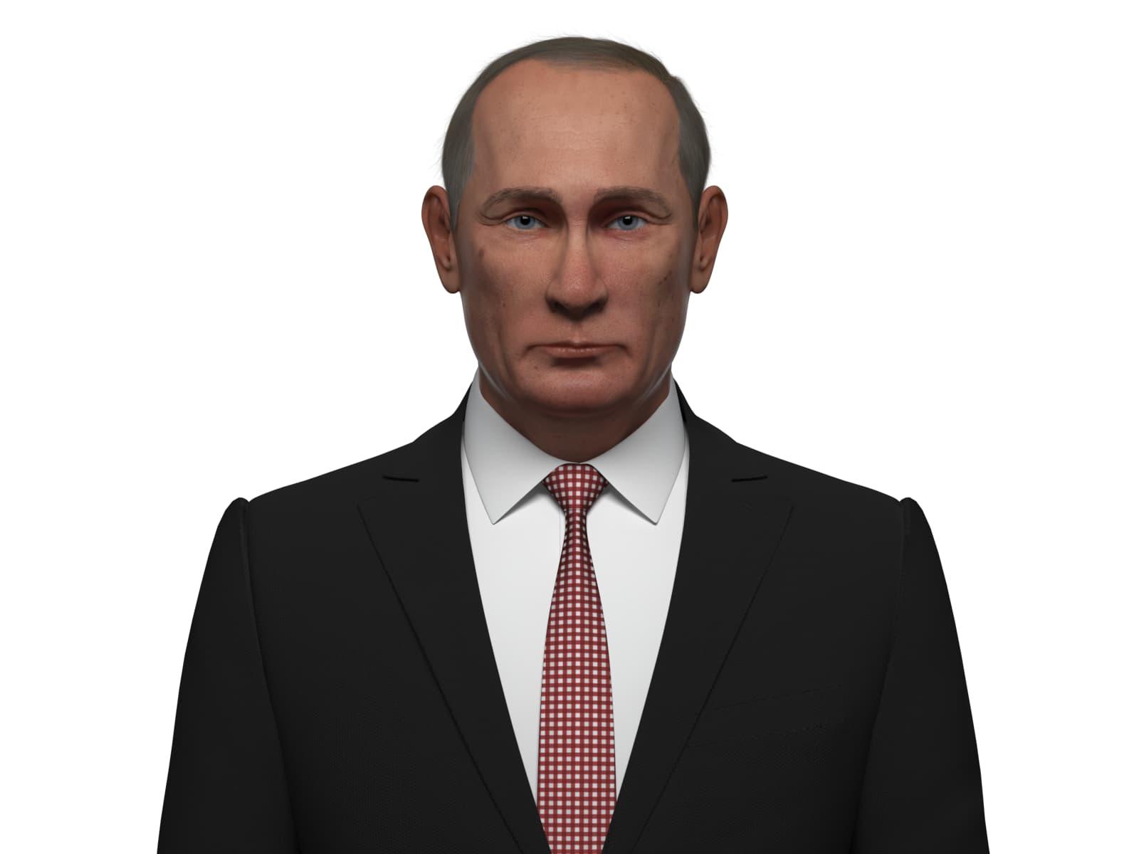 russian vladimir putin 3D model