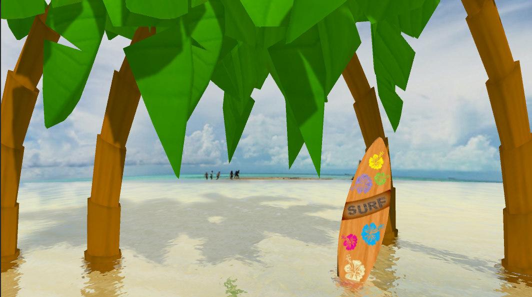 3D surfboard surf model