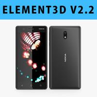 E3D - Nokia 3 Black Model