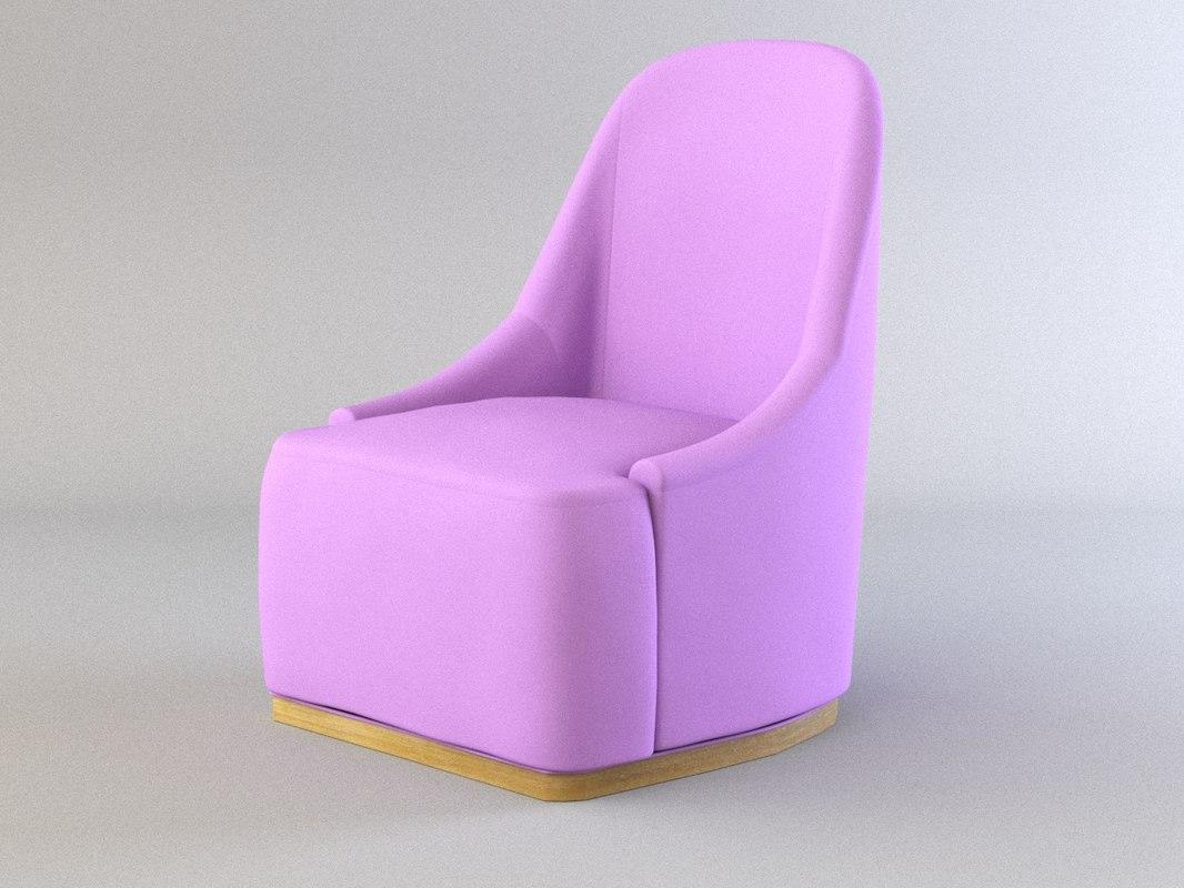 3D armshort sofa model