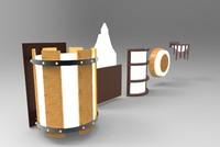 wood sconces 3D model